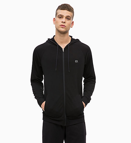 CALVINKLEIN Zip Through Hoodie - CK BLACK - CALVIN KLEIN WORKOUT - main image