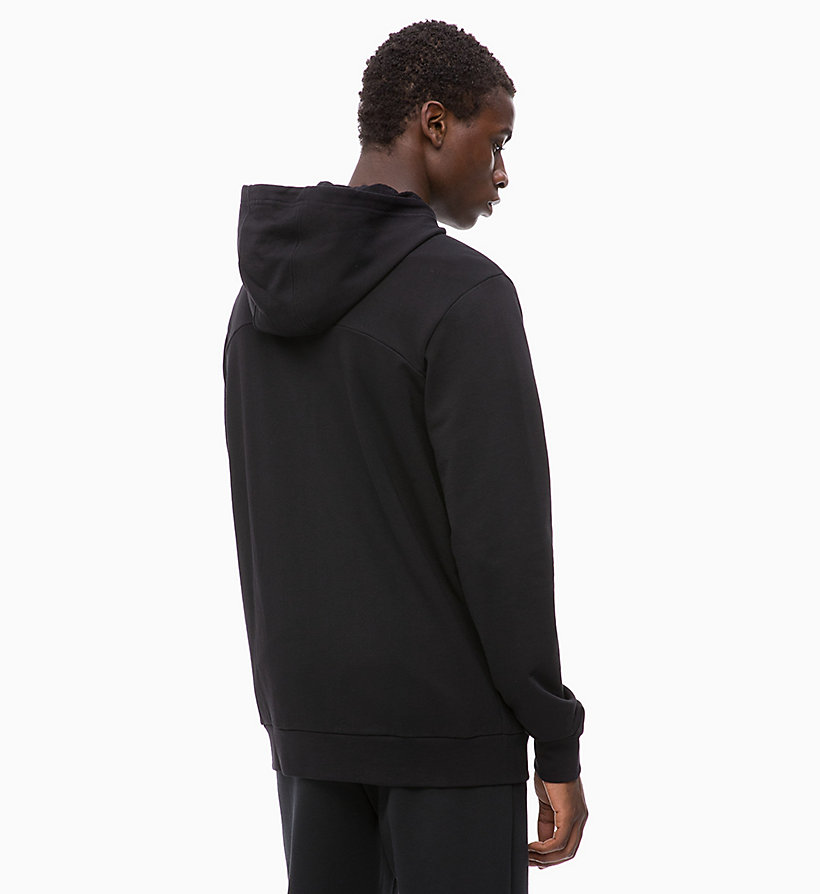 CALVIN KLEIN Zip Through Logo Hoodie - FOREST NIGHT - CALVIN KLEIN PERFORMANCE - detail image 1