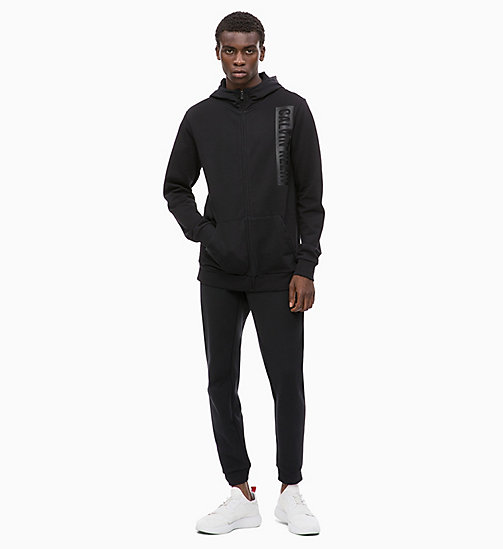 CALVIN KLEIN Zip Through Logo Hoodie - CK BLACK - CALVIN KLEIN SPORT - detail image 1