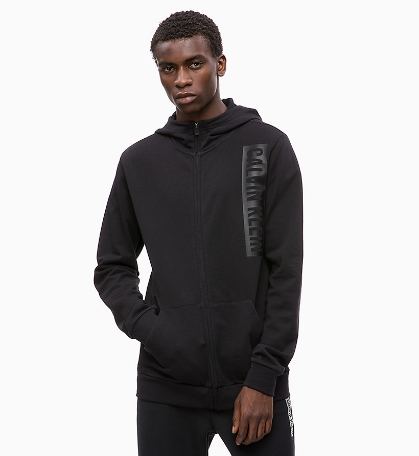 CALVIN KLEIN Zip Through Logo Hoodie - FOREST NIGHT - CALVIN KLEIN PERFORMANCE - main image