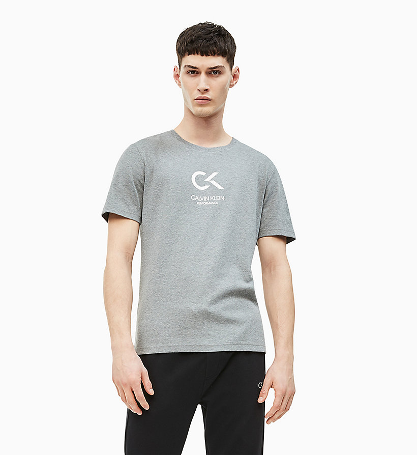 CALVIN KLEIN Logo-T-Shirt - CYAN BLUE/BRIGHT WHITE - CALVIN KLEIN PERFORMANCE - main image