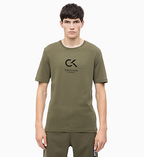 CALVIN KLEIN Logo-T-Shirt - OLIVE NIGHT/CK BLACK - CALVIN KLEIN NEU FÜR MANNER - main image