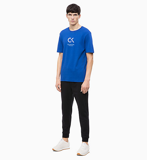 CALVIN KLEIN Logo T-Shirt - MAZARINE BLUE - CALVIN KLEIN NEW FOR MEN - detail image 1