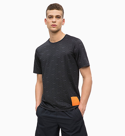 CALVINKLEIN Coolcore T-shirt met logo - CK BLACK - CALVIN KLEIN Chill-out - main image