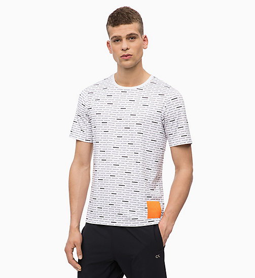 CALVINKLEIN Coolcore T-shirt met logo - BRIGHT WHITE - CALVIN KLEIN Chill-out - main image