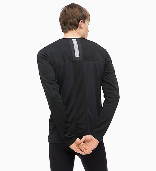 CALVINKLEIN Mesh Panel Long Sleeve Technical Top - CK BLACK - CALVIN KLEIN SPORT - detail image 1