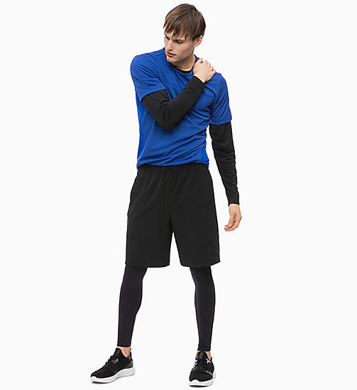 CALVIN KLEIN Mesh Panel Long Sleeve Technical Top - CK BLACK - CALVIN KLEIN SPORT - detail image 1