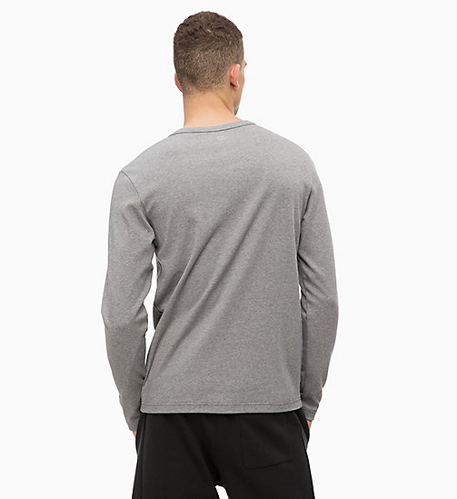 CALVINKLEIN Logo Long Sleeve T-shirt - MEDIUM GREY HEATHER - CALVIN KLEIN SPORT - detail image 1