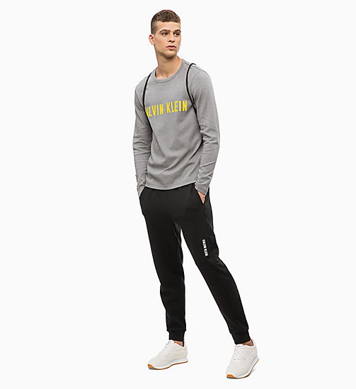 CALVIN KLEIN Logo Long Sleeve T-shirt - MEDIUM GREY HEATHER - CALVIN KLEIN SPORT - detail image 1