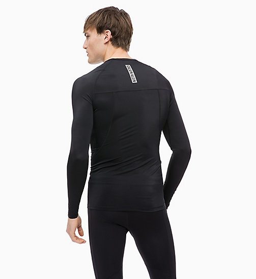 CALVINKLEIN Compression Long Sleeve Technical Top - CK BLACK - CALVIN KLEIN SPORT - detail image 1