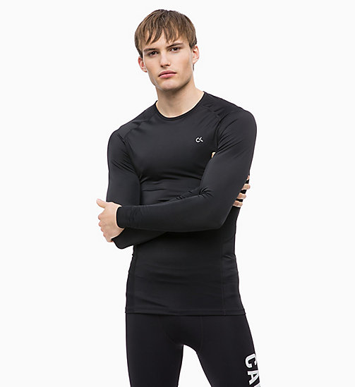 CALVIN KLEIN Compression Long Sleeve Technical Top - CK BLACK - CALVIN KLEIN SPORT - main image