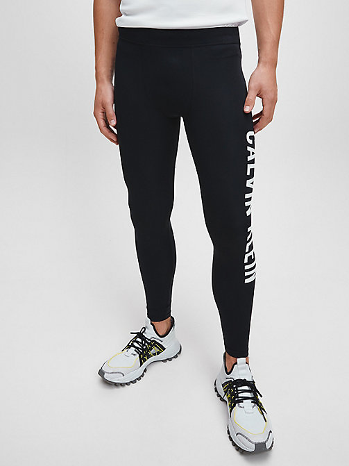 CALVIN KLEIN Logo Performance Tights - CK BLACK - CALVIN KLEIN SPORT - main image