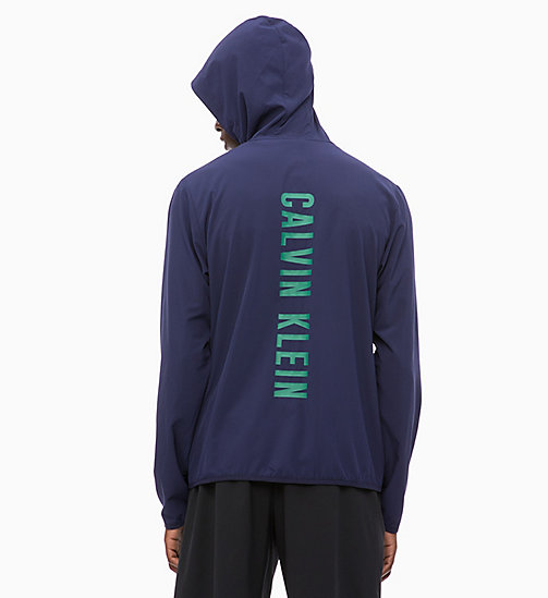 CALVINKLEIN Zip Through Tracksuit Jacket - EVENING BLUE - CALVIN KLEIN WORKOUT - detail image 1