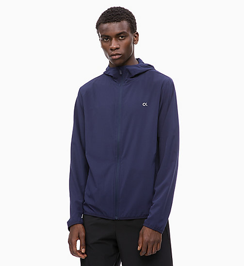 CALVINKLEIN Zip Through Tracksuit Jacket - EVENING BLUE - CALVIN KLEIN WORKOUT - main image