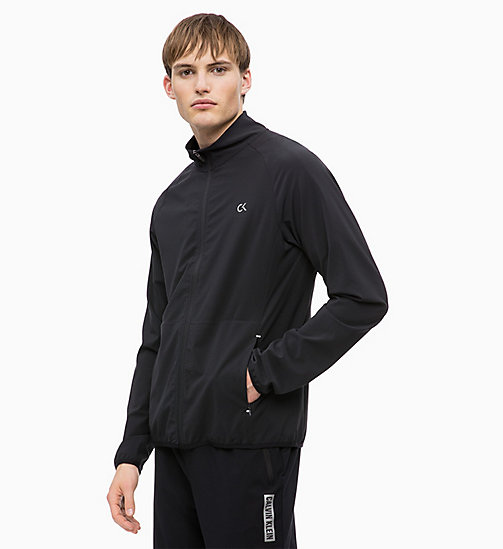 CALVIN KLEIN Zip Through Tracksuit Jacket - CK BLACK - CALVIN KLEIN SPORT - main image