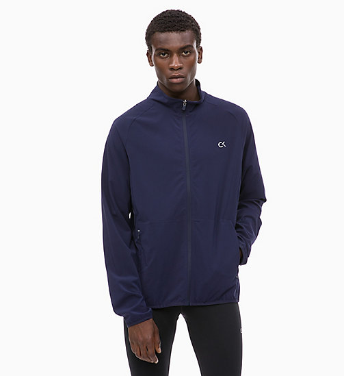 CALVIN KLEIN Zip Through Tracksuit Jacket - EVENING BLUE - CALVIN KLEIN SPORT - main image