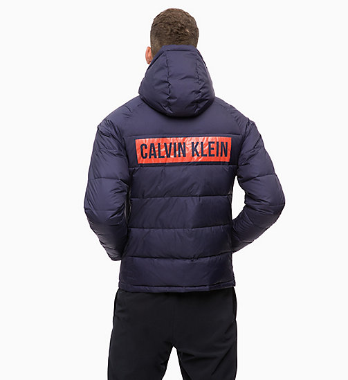CALVINKLEIN Padded Hooded Logo Jacket - EVENING BLUE - CALVIN KLEIN SPORT - detail image 1
