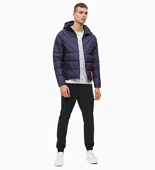 CALVIN KLEIN Padded Hooded Logo Jacket - EVENING BLUE - CALVIN KLEIN SPORT - detail image 1