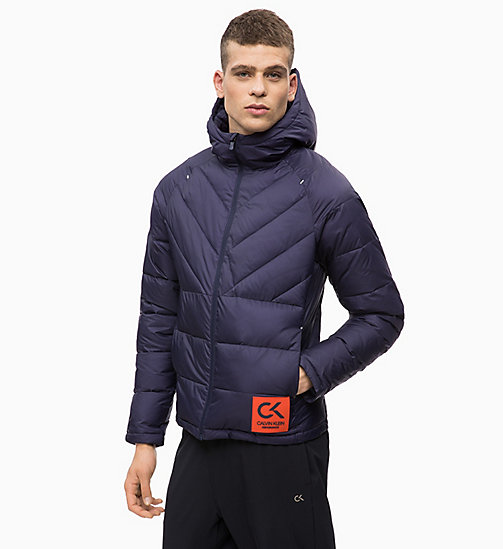 CALVIN KLEIN Padded Hooded Logo Jacket - EVENING BLUE - CALVIN KLEIN SPORT - main image