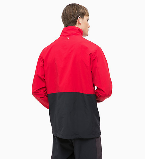 CALVINKLEIN Zip-Through Tracksuit Jacket - RACING RED/GUNMETAL/CK BLACK - CALVIN KLEIN SPORT - detail image 1