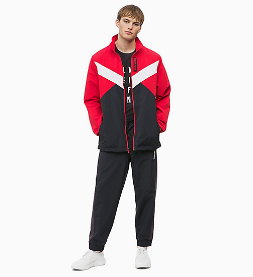 CALVIN KLEIN Zip-Through Tracksuit Jacket - RACING RED/GUNMETAL/CK BLACK - CALVIN KLEIN SPORT - detail image 1