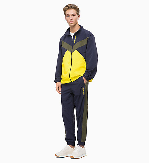 CALVIN KLEIN Trainingsjack met rits - FOREST NIGHT/EVENING BLUE/GOLDEN KIWI - CALVIN KLEIN SPORT - detail image 1