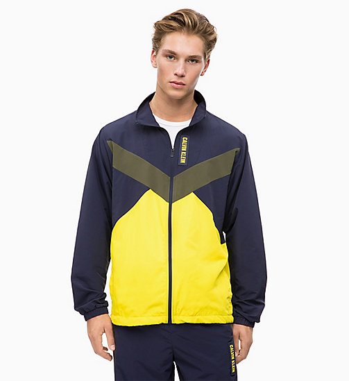CALVIN KLEIN Zip-Through Tracksuit Jacket - FOREST NIGHT/EVENING BLUE/GOLDEN KIWI - CALVIN KLEIN SPORT - main image