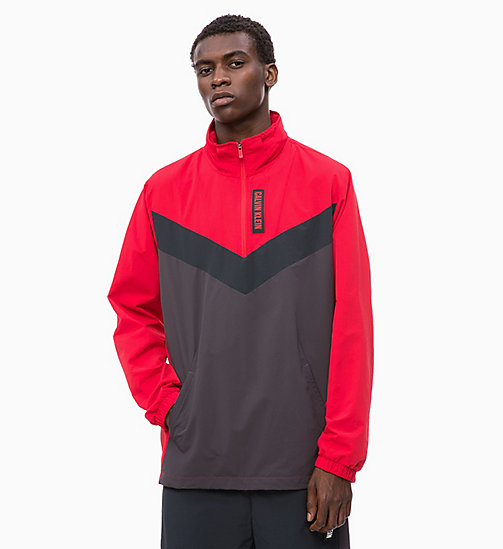 CALVIN KLEIN Half-Zip Tracksuit Jacket - RACING RED/GUNMETAL/CK BLACK -  SPORT - main image