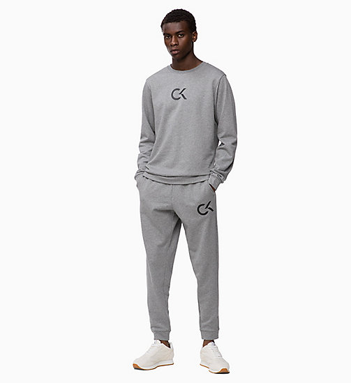 CALVIN KLEIN Logo Joggers - MEDIUM GREY HEATHER - CALVIN KLEIN SPORT - detail image 1