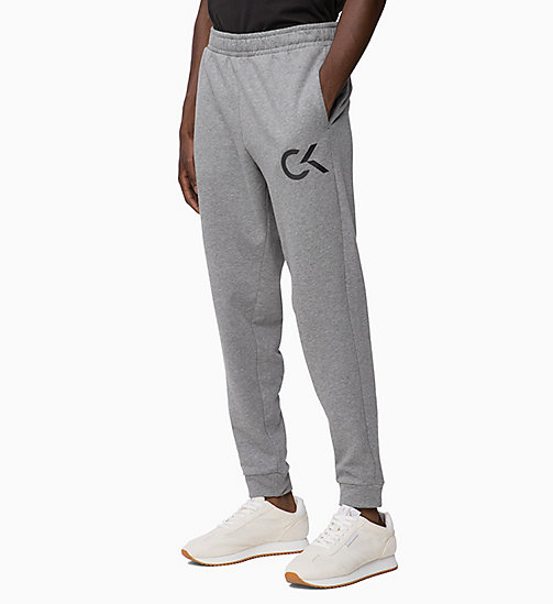 CALVIN KLEIN Logo Joggers - MEDIUM GREY HEATHER - CALVIN KLEIN SPORT - main image