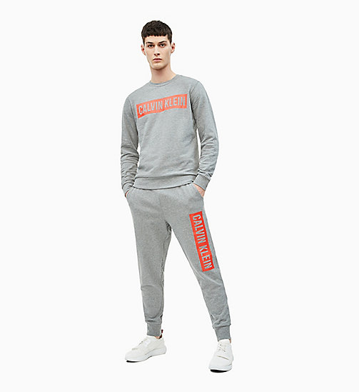 CALVIN KLEIN Joggingbroek met logo - MEDIUM GREY HEATHER - CALVIN KLEIN NIEUW - detail image 1