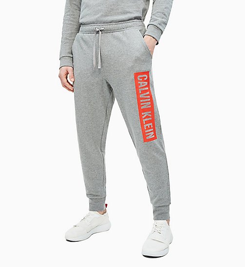 CALVIN KLEIN Joggingbroek met logo - MEDIUM GREY HEATHER - CALVIN KLEIN NIEUW - main image
