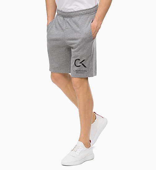 CALVINKLEIN Shorts - MEDIUM GREY HEATHER - CALVIN KLEIN Hangout - main image