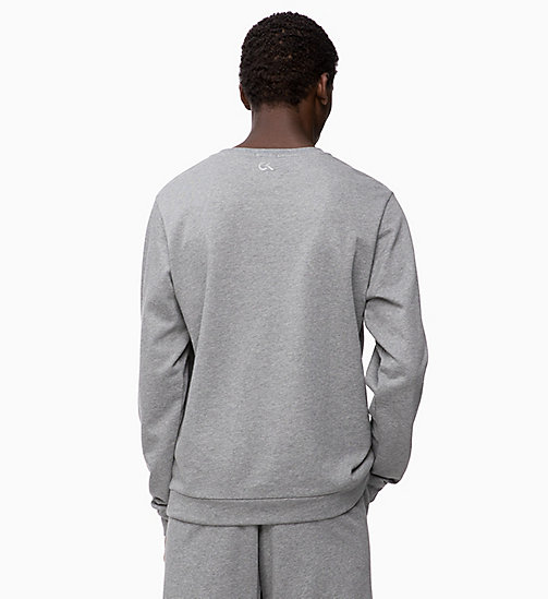 CALVINKLEIN Logo Sweatshirt - MEDIUM GREY HEATHER - CALVIN KLEIN HANGOUT - detail image 1