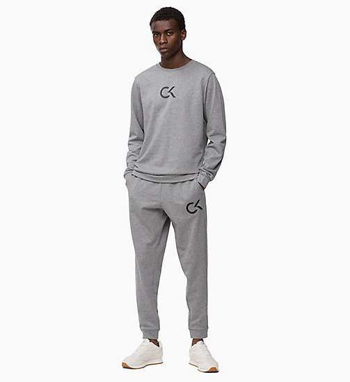 CALVIN KLEIN Logo Sweatshirt - MEDIUM GREY HEATHER - CALVIN KLEIN SPORT - detail image 1