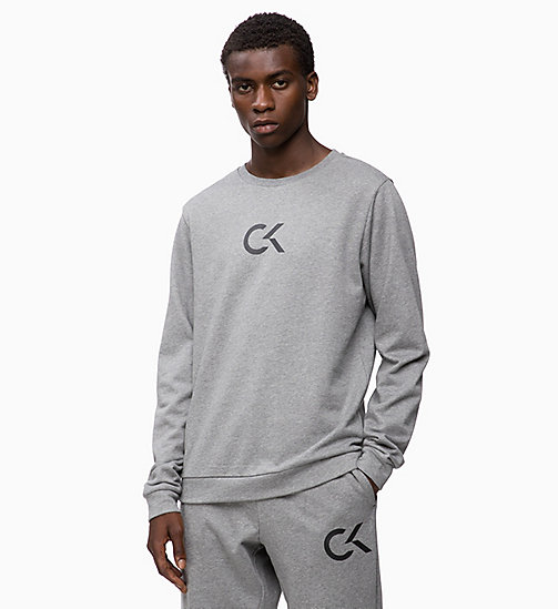 CALVINKLEIN Logo Sweatshirt - MEDIUM GREY HEATHER - CALVIN KLEIN HANGOUT - main image
