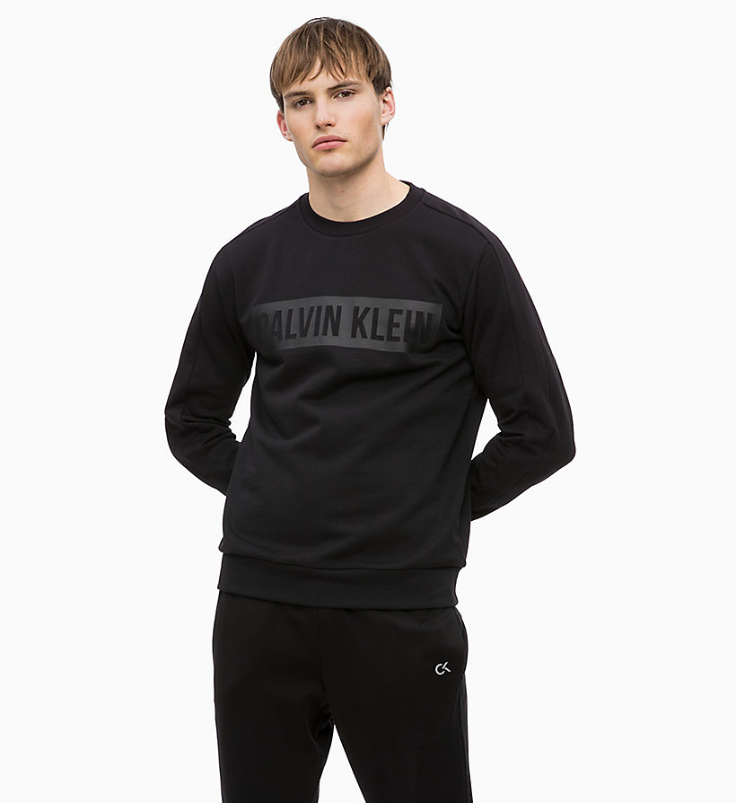 CALVIN KLEIN Logo Sweatshirt - FOREST NIGHT? - CALVIN KLEIN PERFORMANCE - main image