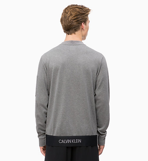 CALVINKLEIN Sweatshirt - MEDIUM GREY HEATHER -  SPORT - detail image 1