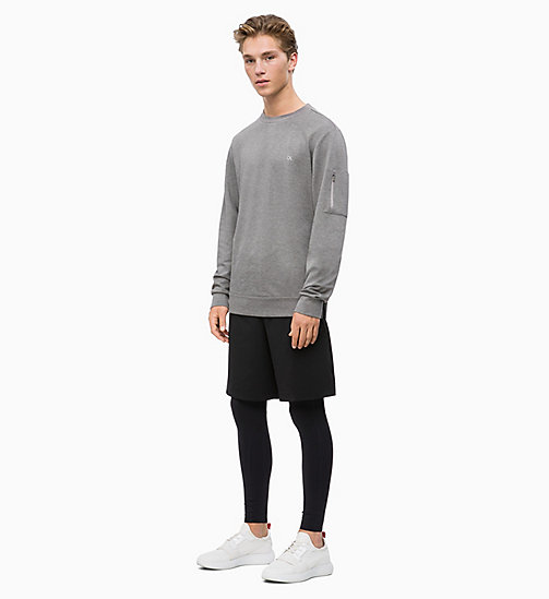 CALVIN KLEIN Sweatshirt - MEDIUM GREY HEATHER - CALVIN KLEIN SPORT - detail image 1