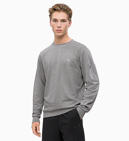 CALVINKLEIN Sweatshirt - MEDIUM GREY HEATHER - CALVIN KLEIN Hangout - main image
