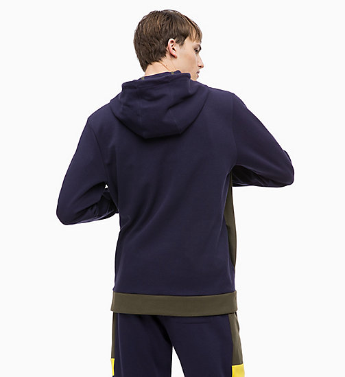 CALVINKLEIN Pullover Hoodie - FOREST NIGHT/EVENING BLUE/GOLDEN KIWI - CALVIN KLEIN SPORT - detail image 1