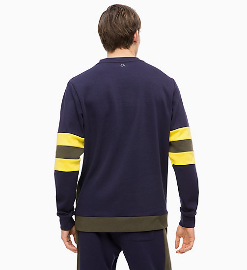 CALVINKLEIN Sweat-shirt color-block - FOREST NIGHT/EVENING BLUE/GOLDEN KIWI - CALVIN KLEIN SPORT - image détaillée 1