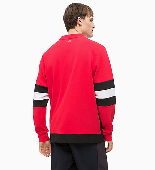 CALVINKLEIN Felpa colour block - CK BLACK/RACING RED/BRIGHT WHITE - CALVIN KLEIN SPORT - dettaglio immagine 1