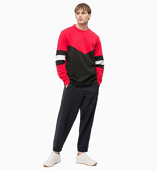 CALVIN KLEIN Colourblocked Sweatshirt - CK BLACK/RACING RED/BRIGHT WHITE - CALVIN KLEIN SPORT - detail image 1