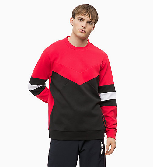 CALVIN KLEIN Colourblocked Sweatshirt - CK BLACK/RACING RED/BRIGHT WHITE - CALVIN KLEIN SPORT - main image