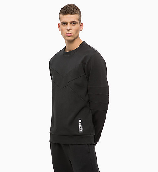 CALVIN KLEIN Colourblocked Sweatshirt - TRIPLE BLACK - CALVIN KLEIN SPORT - main image
