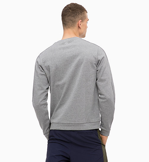 CALVINKLEIN Logo-Sweatshirt - MEDIUM GREY HEATHER - CALVIN KLEIN Hangout - main image 1