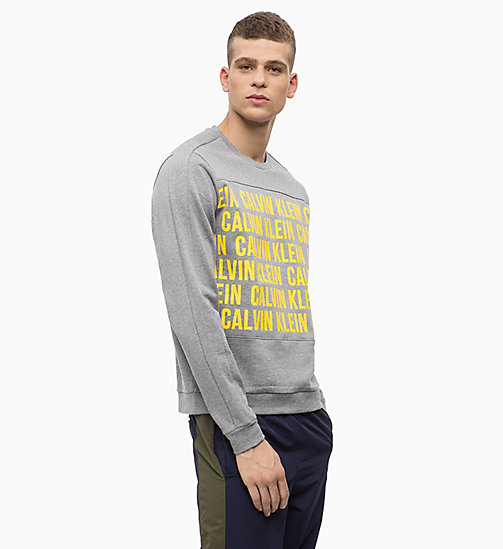 CALVINKLEIN Logo-Sweatshirt - MEDIUM GREY HEATHER - CALVIN KLEIN Hangout - main image