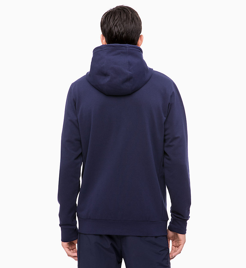CALVIN KLEIN Zip Through Hoodie - CK BLACK/CHERRY TOMATO - CALVIN KLEIN PERFORMANCE - detail image 1