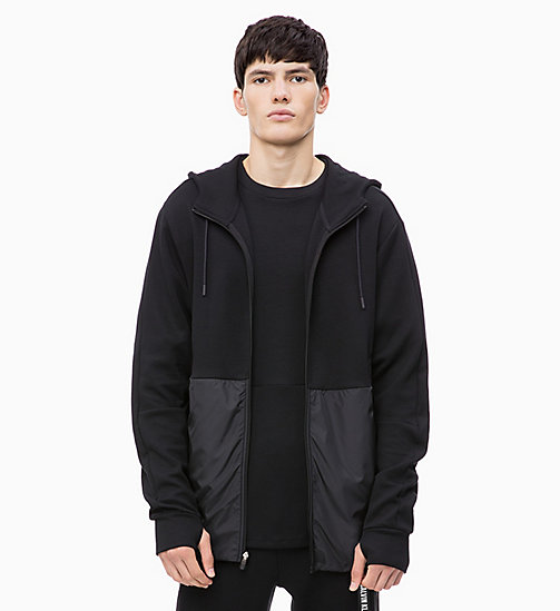 CALVIN KLEIN Zip Through Hoodie - CK BLACK - CALVIN KLEIN NEW FOR MEN - main image